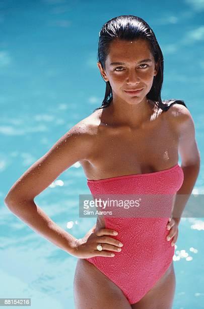 Sylvie Lanbotte holidays in Porto Ercole Tuscany July 1991
