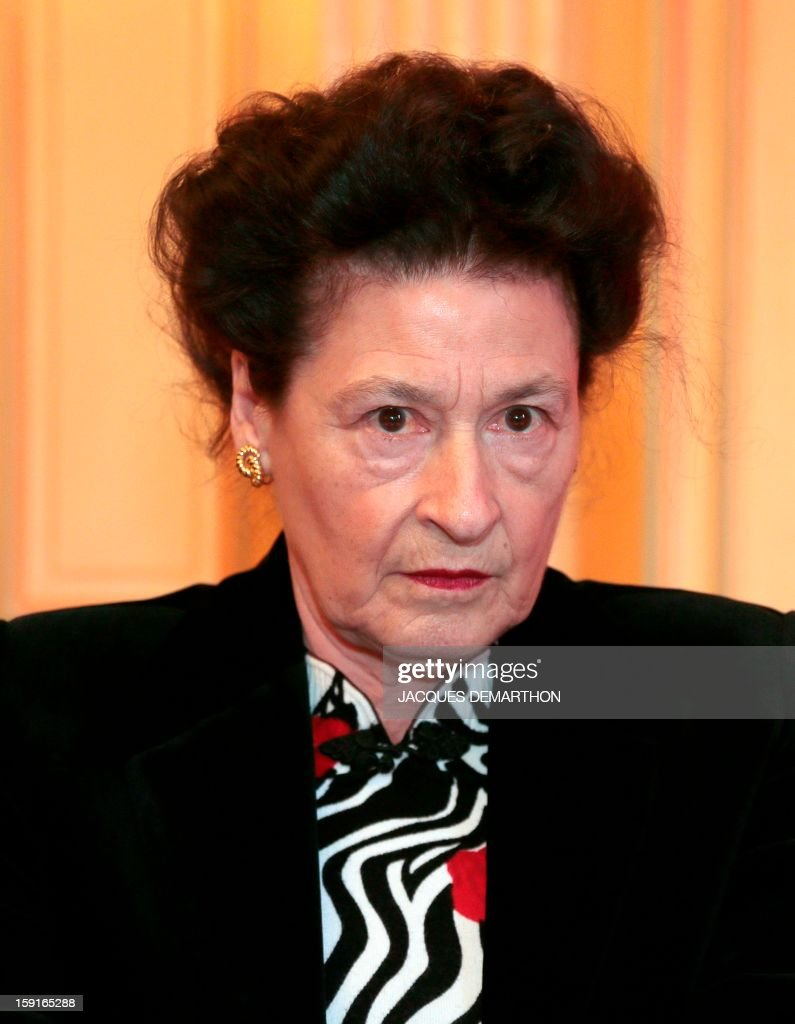 Sylvie Le Bon de Beauvoir, the daughter of the late French philosopher Simone de Beauvoir, looks on during the Simone de Beauvoir awards ceremony, in Paris on January 9, 2013. The 2013 Simone de Beauvoir prize for the freedom of women was handed to Malala Yousafzai, the young Pakistani schoolgirl activist who was the victim of an assasination attempt by the Taliban in 2012 and become a symbol of the struggle for girls' education and women's rights in Pakistan. Malala was flown to the United Kingdom with a life-threatening head wound shortly after her attack but recovered from her injuries and was temporarily discharged on January 4 as she awaits more surgery.