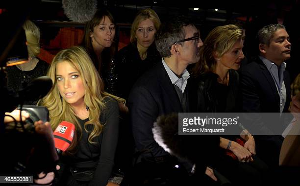 Sylvie Meis and Boris Izaguirre attend the Mango Fashion show held at the Born Centre Cultural on January 27 2014 in Barcelona Spain