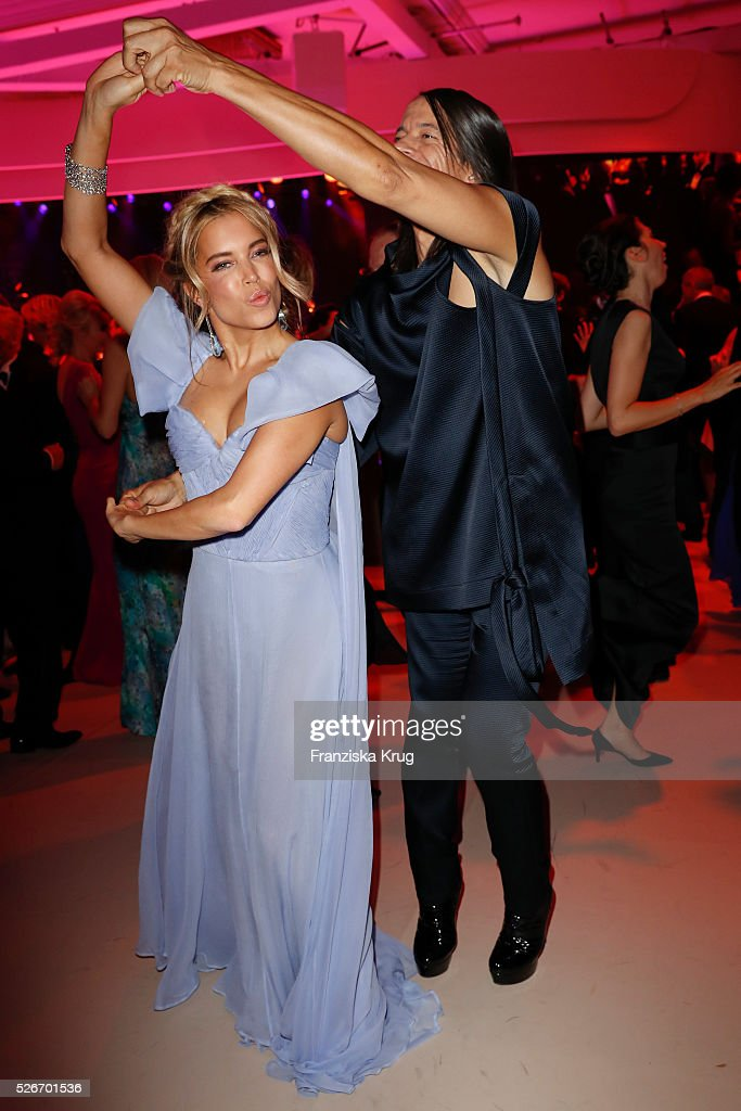 Sylvie Meis and Jorge Gonzalez attend the Rosenball 2016 on April 30 in Berlin, Germany.