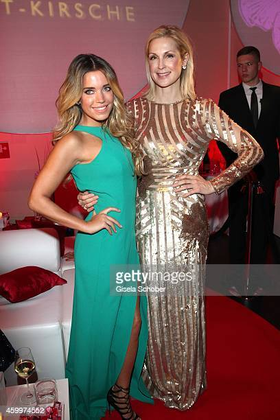Sylvie Meis and Kelly Rutherford during the Mon Cheri Barbara Tag 2014 at Haus der Kunst on December 4 2014 in Munich Germany