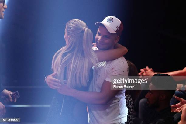 Sylvie Meis and Pietro Lombardi during the final show of the tenth season of the television competition 'Let's Dance' on June 9 2017 in Cologne...
