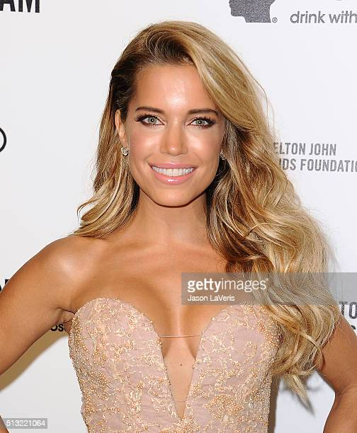 Sylvie Meis attends the 24th annual Elton John AIDS Foundation's Oscar viewing party on February 28 2016 in West Hollywood California
