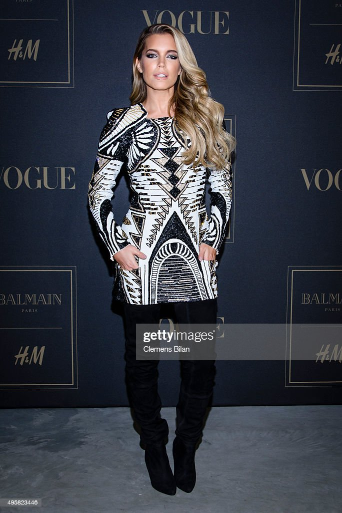 <a gi-track='captionPersonalityLinkClicked' href=/galleries/search?phrase=Sylvie+Meis&family=editorial&specificpeople=538310 ng-click='$event.stopPropagation()'>Sylvie Meis</a> attends the BALMAIN x H&M Berlin Launch Party on November 4, 2015 in Berlin, Germany.