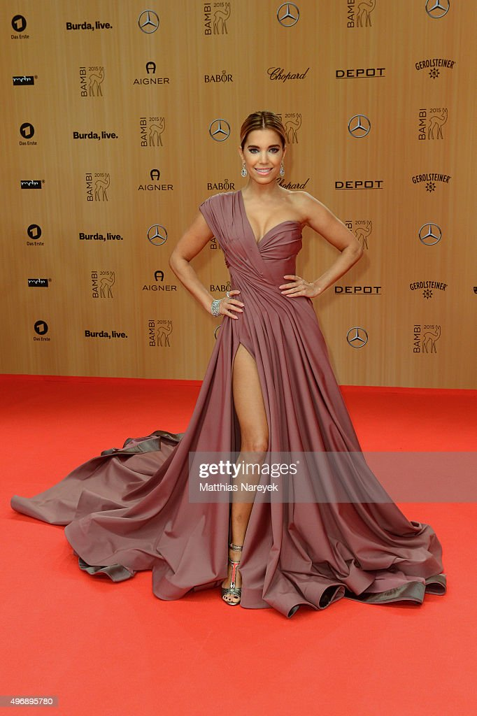 <a gi-track='captionPersonalityLinkClicked' href=/galleries/search?phrase=Sylvie+Meis&family=editorial&specificpeople=538310 ng-click='$event.stopPropagation()'>Sylvie Meis</a> attends the Bambi Awards 2015 at Stage Theater on November 12, 2015 in Berlin, Germany.