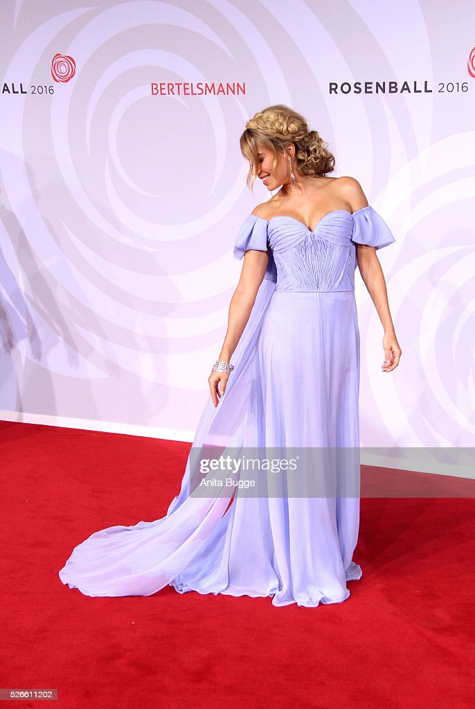 Sylvie Meis attends the charity event 'Rosenball' at Hotel Intercontinental on April 30, 2016 in Berlin, Germany.