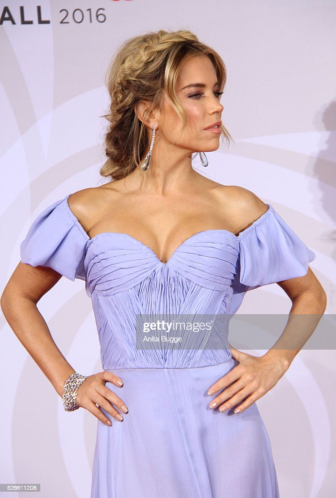 Sylvie Meis (hair detail) attends the charity event 'Rosenball' at Hotel Intercontinental on April 30, 2016 in Berlin, Germany.