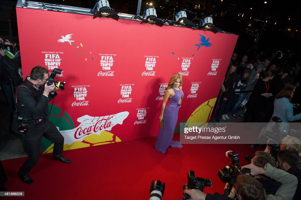 Sylvie Meis attends the Gala Night of the FIFA World Cup trophy Tour on March 29, 2014 in Berlin, Germany.