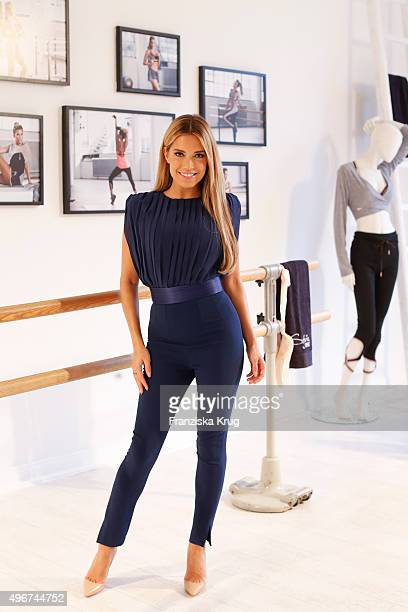 Sylvie Meis attends the Hunkemoeller HKMX launch on November 11 2015 in Hamburg Germany