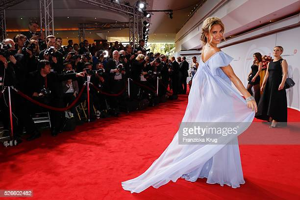 Sylvie Meis attends the Rosenball 2016 on April 30 in Berlin Germany