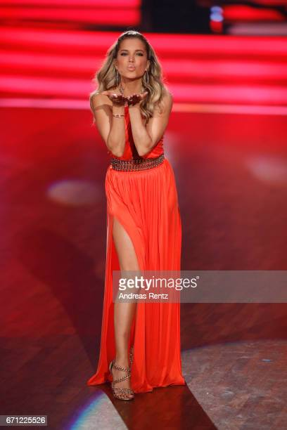 Sylvie Meis during the 5th show of the tenth season of the television competition 'Let's Dance' on April 21 2017 in Cologne Germany