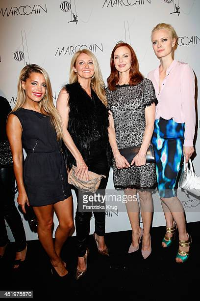 Sylvie Meis Frauke Ludowig Marcia Cross and Franziska Knuppe attend the Marc Cain show during the MercedesBenz Fashion Week Spring/Summer 2015 at...
