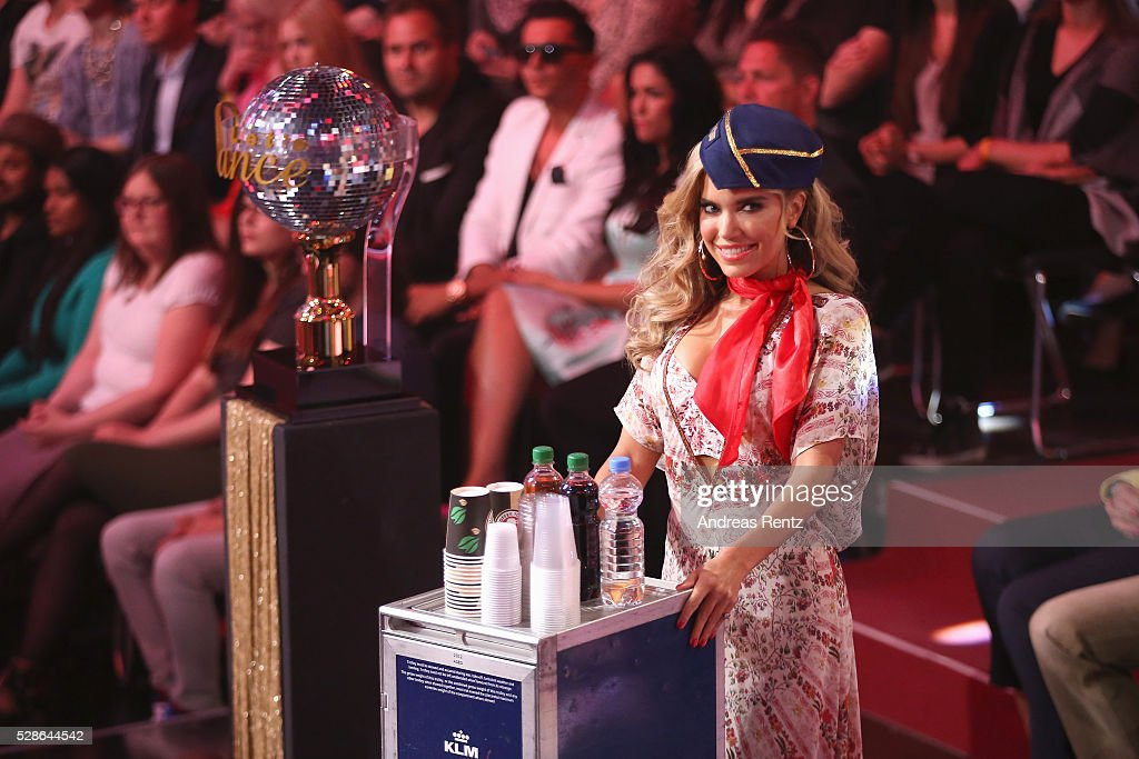 Sylvie Meis is seen onstage at the 8th show of the television competition 'Let's Dance' on May 6, 2016 in Cologne, Germany.