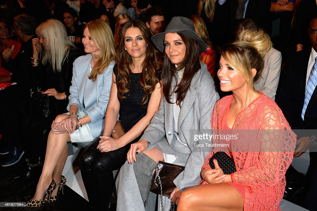 Sylvie Meis Katie Holmes Elizabeth Hurley and Frauke Ludowig attends the Marc Cain show during the MercedesBenz Fashion Week Berlin Autumn/Winter...
