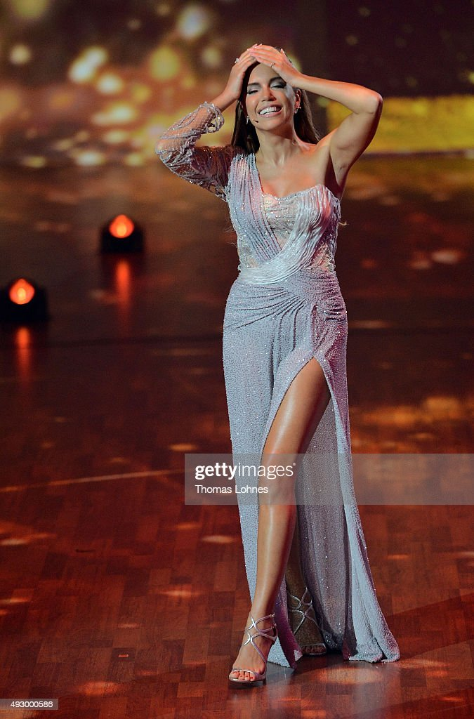 <a gi-track='captionPersonalityLinkClicked' href=/galleries/search?phrase=Sylvie+Meis&family=editorial&specificpeople=538310 ng-click='$event.stopPropagation()'>Sylvie Meis</a> moderates the final show of the television competition 'Stepping Out' on October 16, 2015 in Cologne, Germany.