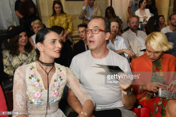 Sylvie Ortega Munos and Emmanuel de Brantes attend the Julien Fournie Haute Couture Fall/Winter 20172018 show as part of Haute Couture Paris Fashion...
