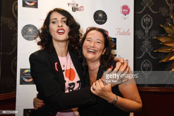 Sylvie Ortega Munos and Esther Meyniel attend the 'Souffle de Violette' Auction Party As part of 'Octobre Rose' Hosted by Ereel at Fidele Club on...