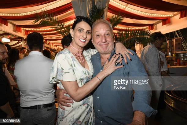 Sylvie Ortega Munos and Francois Berleand attend La Fete des Tuileries on June 23 2017 in Paris France