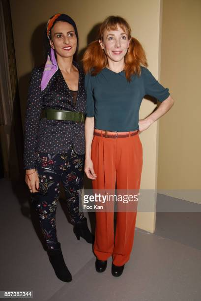 Sylvie Ortega Munos and Julie Depardieu attend the Agnes B Show as part of the Paris Fashion Week Womenswear Spring/Summer 2018 on October 3 2017 in...