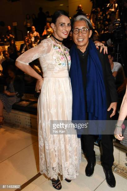 Sylvie Ortega Munos and Kenzo Takada attend the Stephane Rolland Haute Couture Fall/Winter 20172018 show as part of Haute Couture Paris Fashion Week...