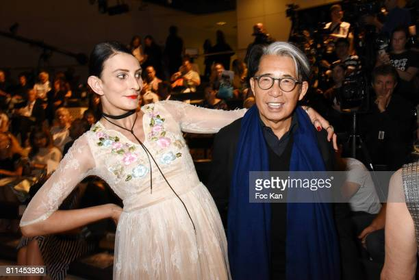 Sylvie Ortega Munos and Kenzo Takadaattend the Stephane Rolland Haute Couture Fall/Winter 20172018 show as part of Haute Couture Paris Fashion Week...
