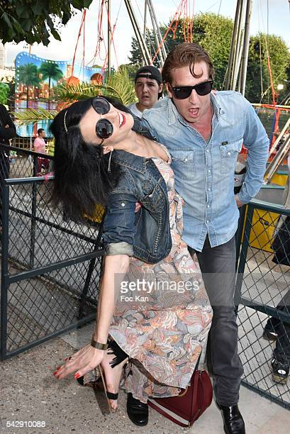 Sylvie Ortega Munos and Ludovic Chancel attends La Fete des Tuileries on June 24 2016 in Paris France