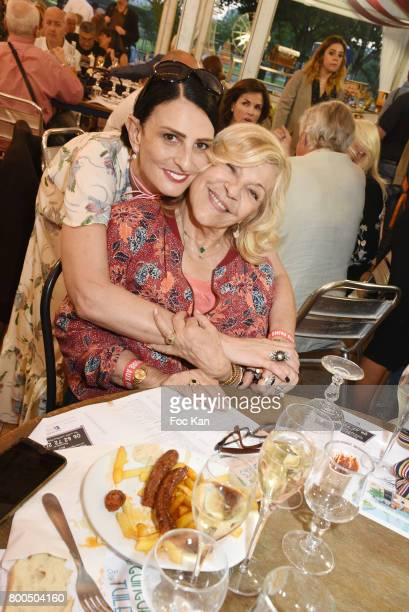 Sylvie Ortega Munos and Nicoletta attend La Fete des Tuileries on June 23 2017 in Paris France