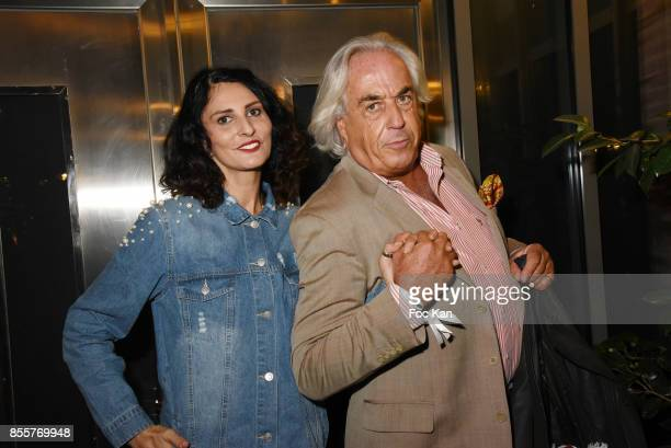 Sylvie Ortega Munos and Phil Latimier du Clesieux attend the Henry Achkoyan Shop Opening on September 29 2017 in Paris France