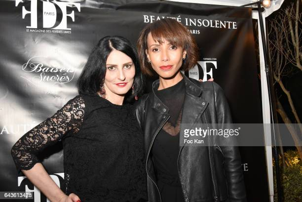 Sylvie Ortega Munos and Sonia Rolland attend FDF Magazine Launch Party at Hotel Christian Dior on February 21 2017 in Paris France