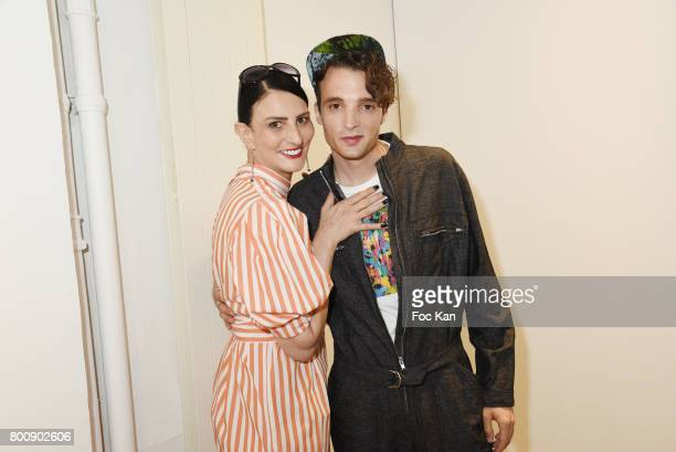 Sylvie Ortega Munos and Soundcloud/Anddreasmusic Êattend the Agnes B Menswear Spring/Summer 2018 show as part of Paris Fashion Week ton June 25 2017...