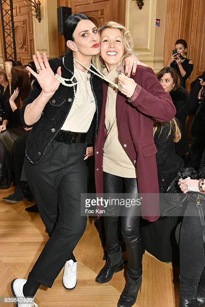 Sylvie Ortega Munos and Tristane Banon attend the Dany Atrache Haute Couture Spring Summer 2017 show as part of Paris Fashion Week>> on January 23...