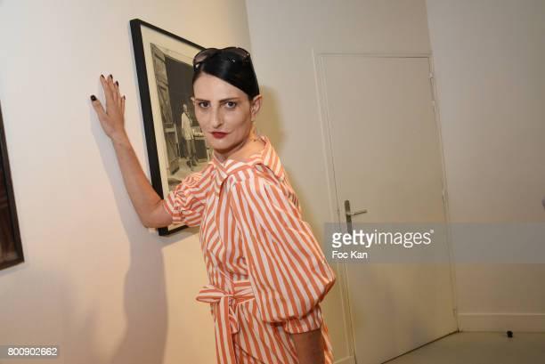 Sylvie Ortega Munos attends Agnes B Menswear Spring/Summer 2018 show as part of Paris Fashion Week ton June 25 2017 in Paris France