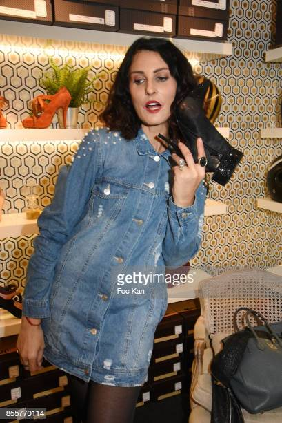 Sylvie Ortega Munos attends the Henry Achkoyan Shop Opening on September 29 2017 in Paris France