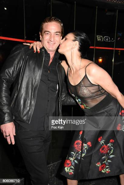 Sylvie Ortegas Munos and Ludovic Chancel attend the Facade Magazine Dinner at VIP Room on July 2 2017 in Paris France