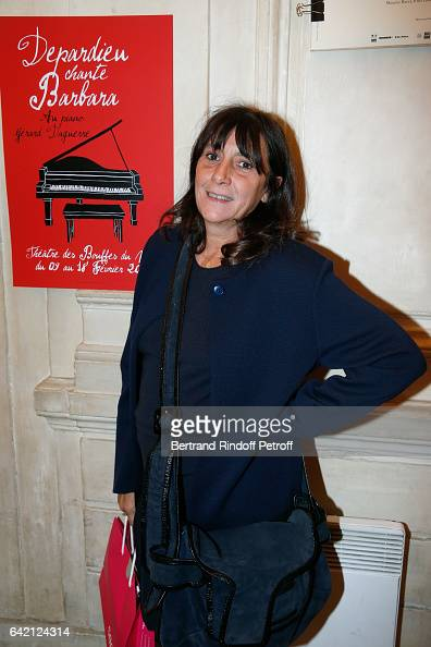 Sylvie Pialat attends Gerard Depardieu sings Barbara accompanied on the piano of Barbara by Gerard Daguere who was his Pianist for more than 15 years...
