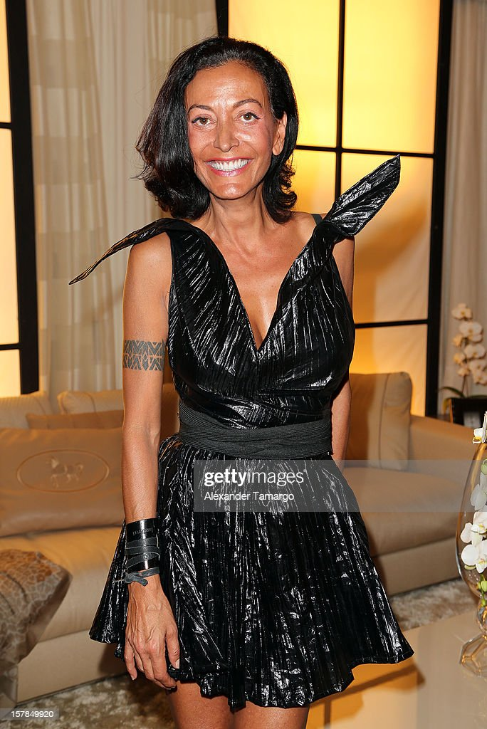 Sylvie Robert attends FENDI Casa's Art Basel cocktail party honoring the contemporary artwork of Andy Warhol with Elle Decor at FENDI Casa Luxury Living Showroom on December 6, 2012 in Miami, Florida.