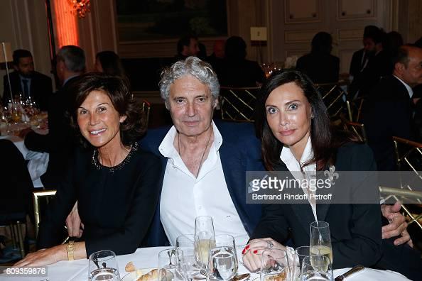Sylvie Rousseau actor Michael Nouri and Svetlana Garrel attend the Charity Dinner to Benefit 'Claude Pompidou Foundation' following the 'Cezanne et...