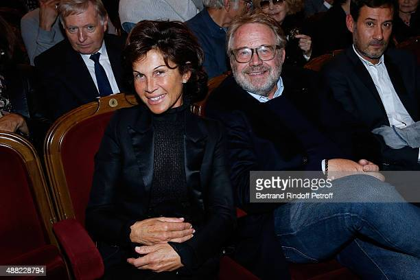 Sylvie Rousseau and Dominique Segall attend 'Le Mensonge' Theater Play Held at Theatre Edouard VII on September 14 2015 in Paris France