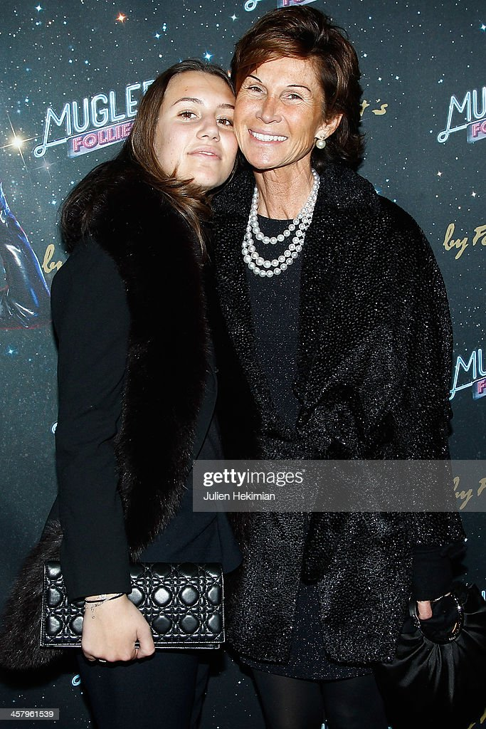 Sylvie Rousseau and her daughter attend 'Mugler Follies' Paris New Variety Show - Premiere on December 19, 2013 in Paris, France.