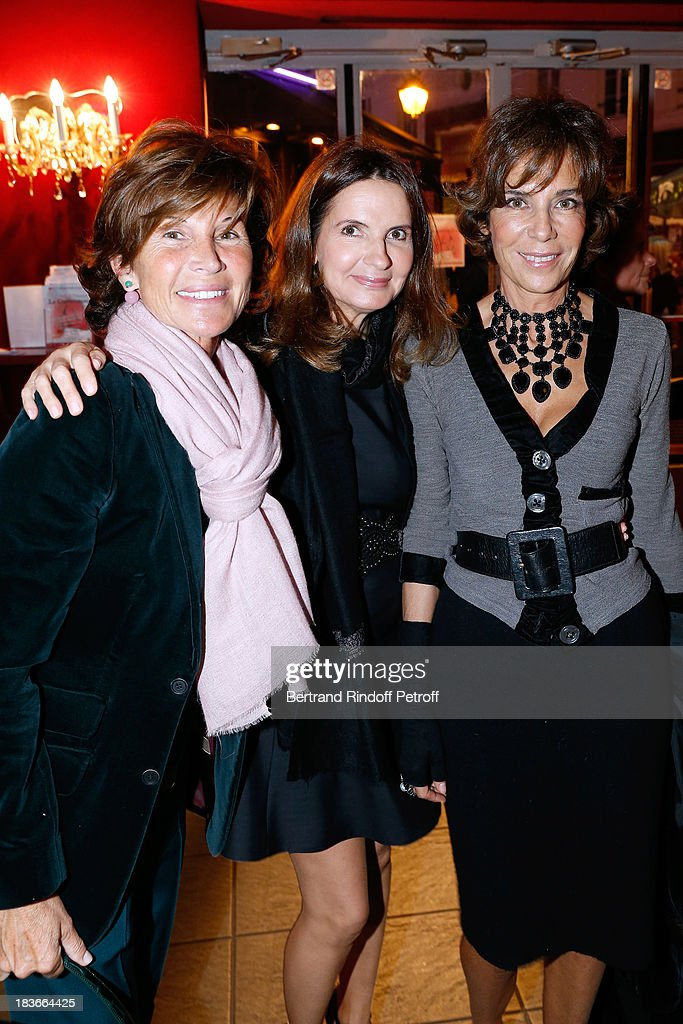 Sylvie Rousseau, Marie-Francine Mansour and Christine Orban attending 'La Dame De La Mer' : Gala play to benefit Care Humanitarian Organization, held in Montparnasse Theater in Paris on October 8, 2013 in Paris, France.