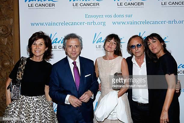 Sylvie Rousseau Michel Oks Caroline Nielsen Alexandre Arcady and Sabrina Guigui attend 'Vaincre Le Cancer' Charity Gala Night at Opera Garnier on...