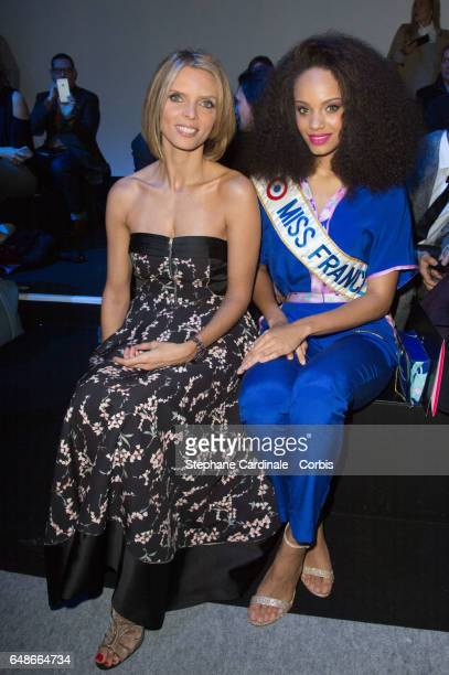 Sylvie Tellier and Alicia Aylies attend the Leonard show as part of the Paris Fashion Week Womenswear Fall/Winter 2017/2018 on March 6 2017 in Paris...