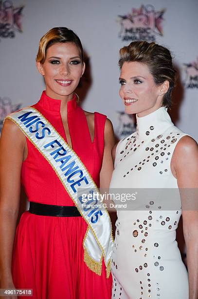 Sylvie Tellier and Camille Cerf attend the 17th NRJ Music Awards at Palais des Festivals on November 7 2015 in Cannes France