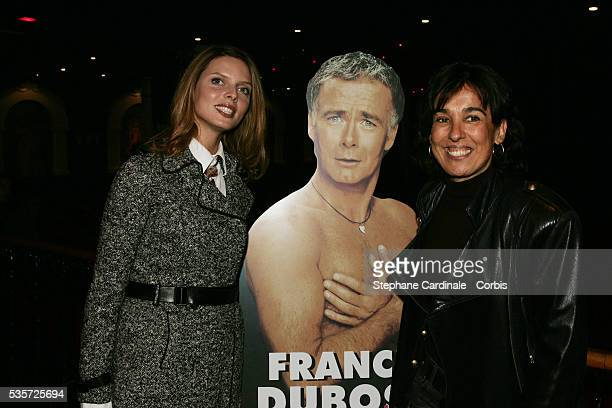Sylvie Tellier and Isabelle Alonso attend the premiere of Franck Dubosc's latest comedy revue