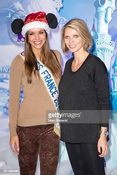 Sylvie Tellier and Marine Lorphelin attend the Christmas season launch at Disneyland Paris on November 9 2013 in Paris France