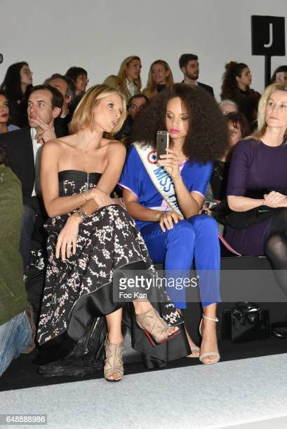 Sylvie Tellier and Miss France 2017 Alicia Aylies attend the Leonard Paris show as part of the Paris Fashion Week Womenswear Fall/Winter 2017/2018 at...