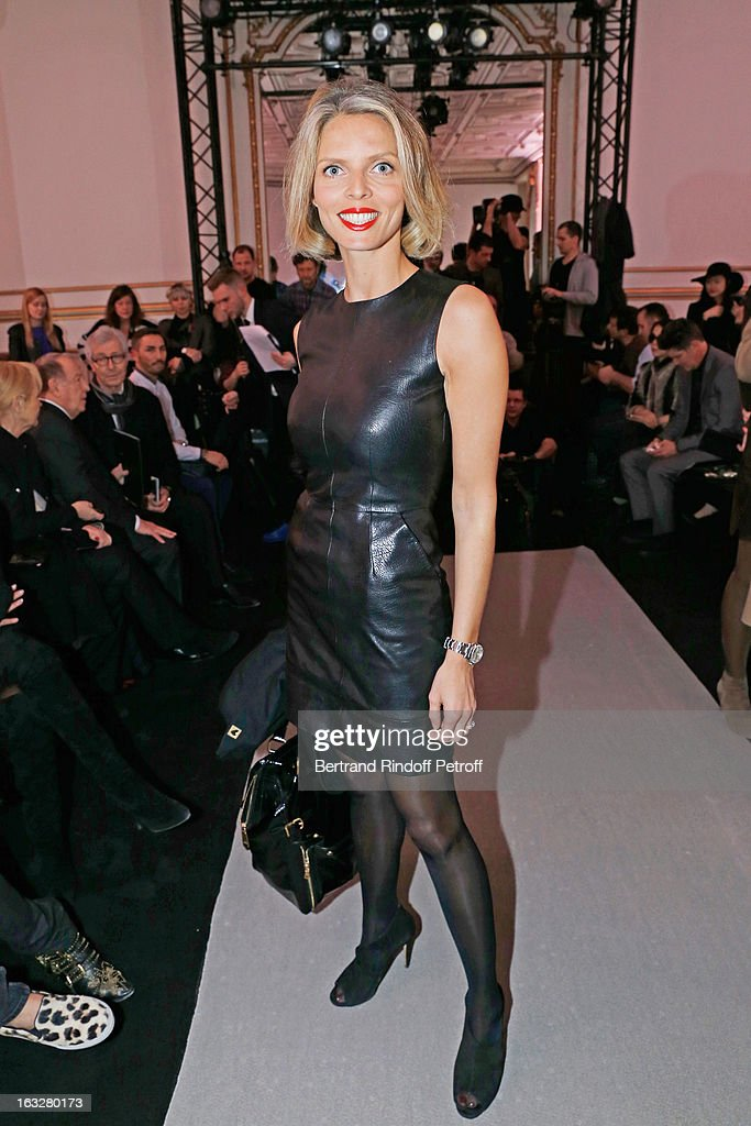 Sylvie Tellier, President of the Miss France committee, attends the Jitrois Fall/Winter 2013 Ready-to-Wear show as part of Paris Fashion Week on March 6, 2013 in Paris, France.