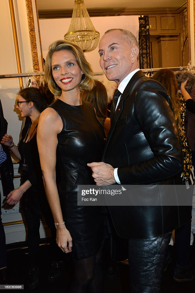 Sylvie Tellierand Jean Claude Jitrois attend the Jitrois - Front Row - PFW F/W 2013 at Hotel Saint James & Albany on March 6, 2013 in Paris, France.