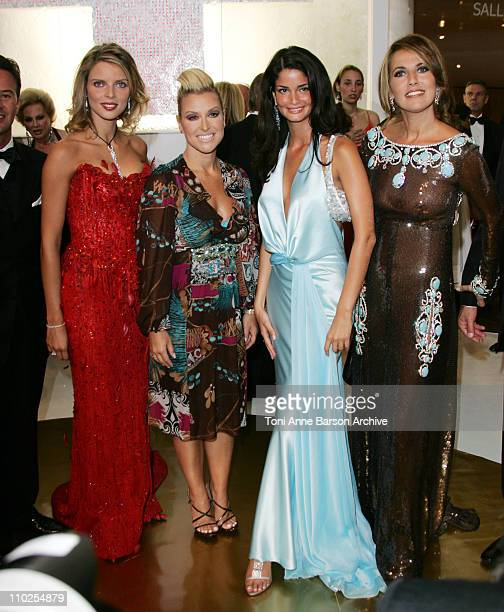 Sylvie TellierMiss France Anastacia Shermine Sharivar Miss Europe 2005 and Natacha Amal and Guest
