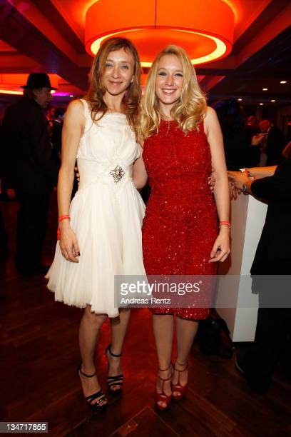 Sylvie Testud and Ludivine Sagnier attend the after party for the 24th European Film Awards 2011 at Hotel Concorde on December 3 2011 in Berlin...